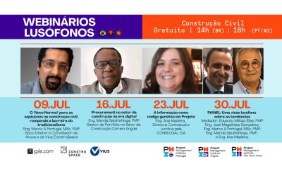 Webinários Lusófonos PMI sobre Construção Civil